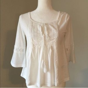 Babydoll Style While Blouse